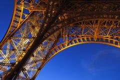 Mörk Eiffel detalj Royaltyfria Foton