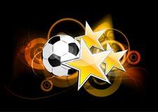 mörk fotboll stock illustrationer