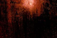 Mörk gammal läskig rostig grov guld- och koppartextur för metallyttersida/bakgrund för allhelgonaafton eller spökat hus spelar ba Royaltyfri Fotografi