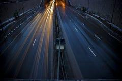 mörk gata Royaltyfri Foto