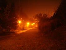 mörk gata Arkivbild