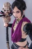 Mörk gotisk kvinna Royaltyfri Fotografi