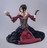 Mörk gotisk kvinna Arkivbild