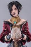 Mörk gotisk kvinna Arkivbilder