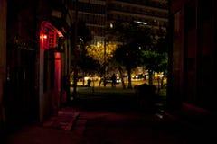Mörk gränd och en bordell på Aten Royaltyfria Bilder