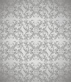 Mörk grå blom- bakgrundsvektor Royaltyfri Bild