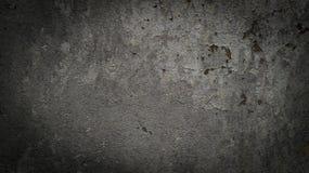 Mörk grå färgbetongbakgrund Fotografering för Bildbyråer