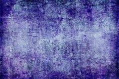 Mörk Grunge - blå purpurfärgad Violet Rusty Distorted Decay Old Abstract kanfas som målar textur Autumn Background Wallpaper royaltyfri bild