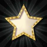 mörk guldstjärna för bakgrund stock illustrationer