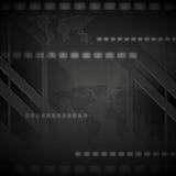 Mörk högteknologisk vektorbakgrund Arkivbilder