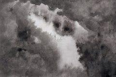 Mörk himmel med vattenfärgillustrationbakgrund royaltyfri illustrationer