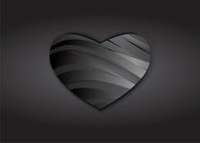 Mörk hjärta av sorgabstrakt begreppbakgrund Arkivbilder
