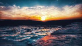 Mörk horisont, slut av dagen Royaltyfri Bild