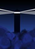 mörk huslampastorm vektor illustrationer