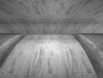 Mörk industriell bakgrund för abstrakt konkret arkitektur Royaltyfria Foton