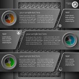 Mörk infographics 4 Royaltyfri Fotografi