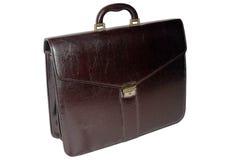 mörk isolerad läderresväska för brun affär Arkivfoton
