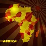 _ Mörk kontinent royaltyfri illustrationer