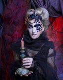 mörk lady Arkivfoto