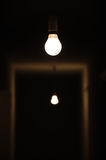 mörk lampa Royaltyfri Fotografi