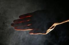 mörk lampa Arkivfoto
