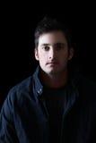 Mörk male modell royaltyfria foton