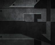 Mörk metalltextur stock illustrationer