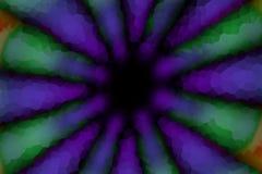 Mörk modell för mångfärgad radiell cirkel, mosaikeffekt royaltyfri illustrationer