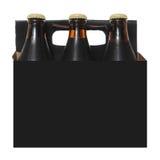 mörk packe sex för ölflaskar Arkivfoto