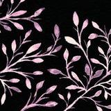 mörk paper vattenfärgyellow för forntida bakgrund Blommabild arkivfoto