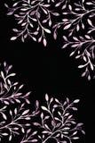 mörk paper vattenfärgyellow för forntida bakgrund Blommabild Royaltyfri Bild
