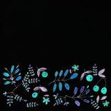 mörk paper vattenfärgyellow för forntida bakgrund Blommabild Arkivbilder