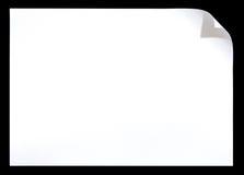 mörk paper white för hörnkrullning Royaltyfri Bild