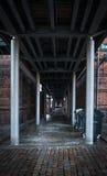 Mörk passagebakgrund Royaltyfria Bilder