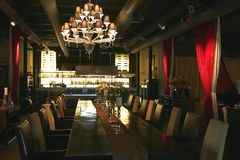 mörk restaurangsignal Fotografering för Bildbyråer