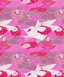 Mörk rosa och ljust - purpurfärgad orkidémodell för vinterklädertyger vektor illustrationer