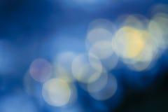 Mörk samkopieringsbakgrund av blått LEDDE ljus Royaltyfri Fotografi