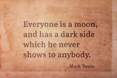 Mörk sida Twain royaltyfria foton