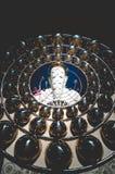Mörk signal Khao Kho Phetchabun för fem Buddhastatyer Fotografering för Bildbyråer