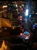 Mörk sikt för Las Vegas remsanatt, södra ljus royaltyfria foton