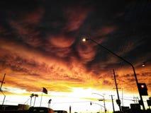 mörk sky arkivfoton