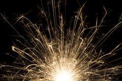 mörk sparkler Royaltyfria Bilder