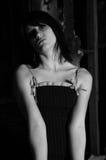 mörk stående Fotografering för Bildbyråer