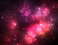 Mörk starfield för djupt utrymme royaltyfri illustrationer