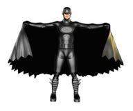 Mörk Superheroudde stock illustrationer
