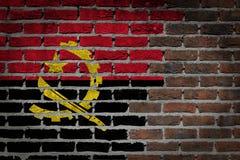Mörk tegelstenvägg - Angola Royaltyfria Bilder