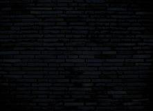 Mörk tegelstenvägg för bakgrund Royaltyfria Foton