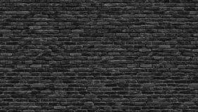 Mörk tegelstenvägg, textur av en svart tegelstenbakgrund royaltyfri foto