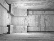 Mörk tom konkret ruminre stads- arkitekturbakgrund Royaltyfria Bilder