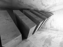 Mörk tom konkret ruminre stads- arkitekturbakgrund Royaltyfri Foto